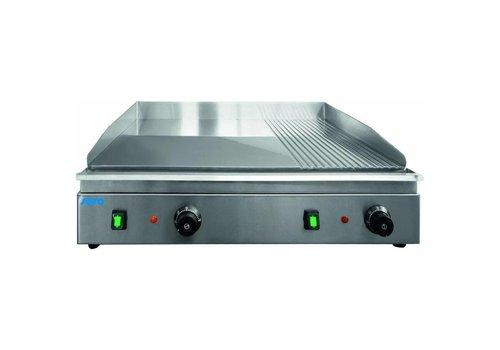 Saro Plaque de cuisson   Électrique   Lisse   Nervuré   L 400 x P 700 x H 270 mm