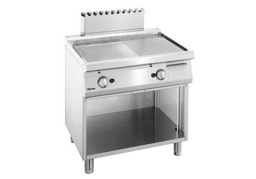 Bartscher Plaque grill gaz 700, L800, 1/2-1/2