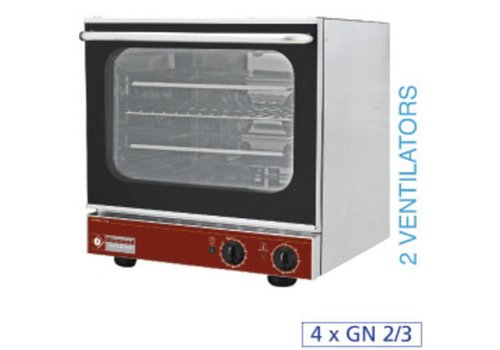 Diamond Electric convection oven 4x GN 2/3 | 20°C to 280°C