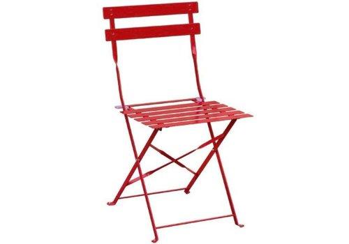 Bolero Chaises de terrasse   acier rouges  