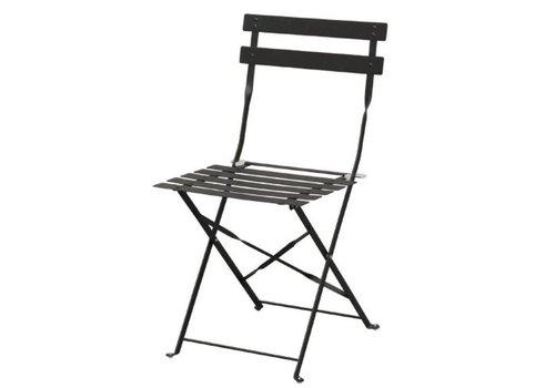 Bolero Chaises de terrasse   acier noires  