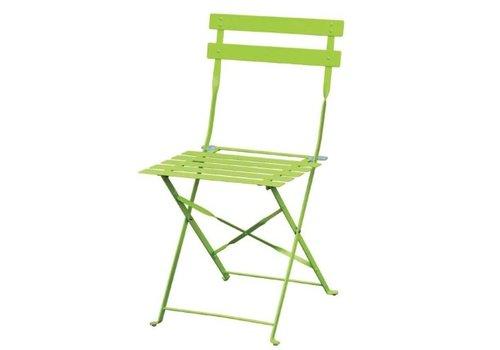 Bolero Chaises de terrasse | acier vertes