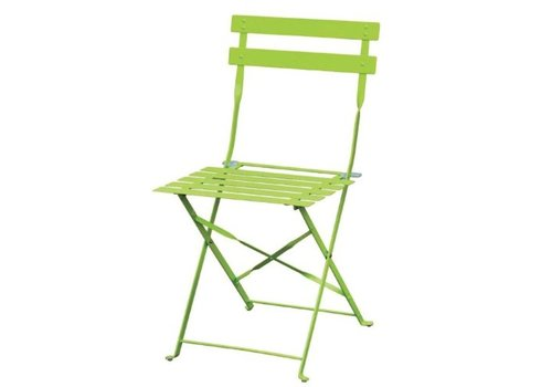 Bolero Chaises de terrasse en acier vertes