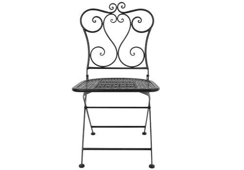 Bolero Chaise de patio pliante classique | acier | noire (lot de 2) |