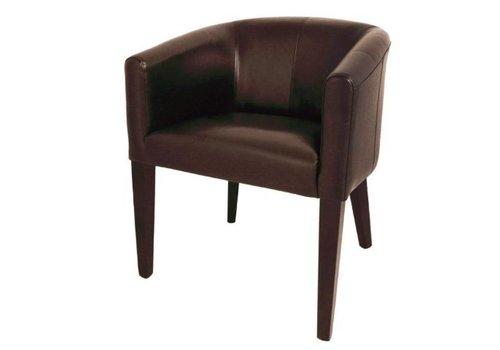 Bolero Fauteuil | simili cuir marron foncé | 820 x 630 x 650 mm |