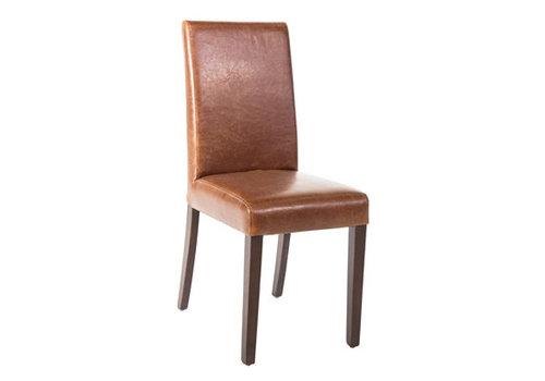 Bolero Chaise dossier haut en simili cuir marron patiné x2