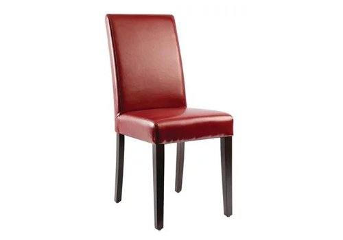 Bolero Chaises en simili cuir rouges