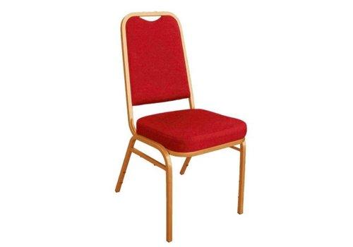 Bolero Chaises de banquet à dossier carré rouges