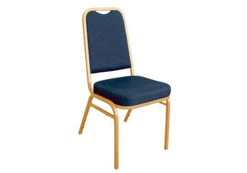 Bolero Chaises de banquet à dossier carré bleues