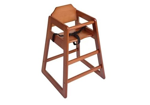 Bolero Chaise haute en bois Bolero finition bois foncé
