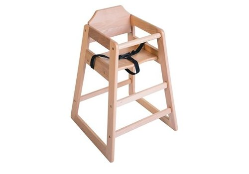 Bolero Chaise haute en bois Bolero finition naturelle