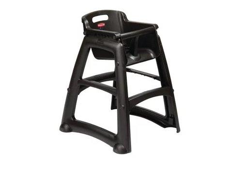 Rubbermaid Chaise haute très robuste noire
