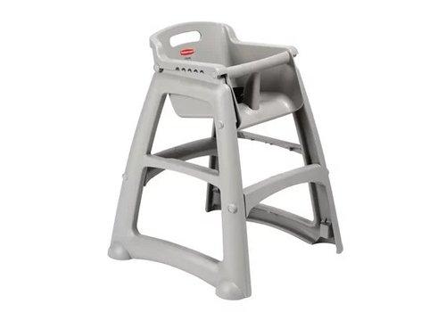 Rubbermaid Chaise haute empilable platine