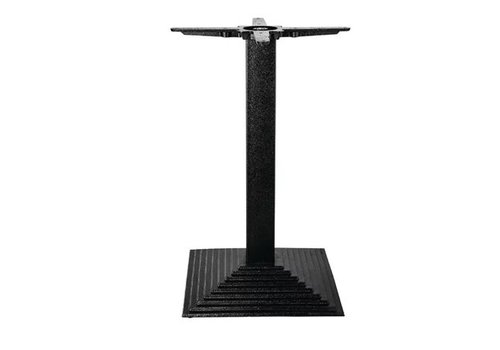Bolero Pied de table carré effet escalier en fonte