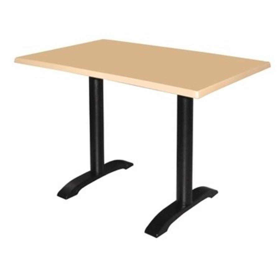 2 pieds de table en fonte