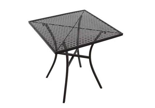 Bolero Table bistro | Carrée | Acier noir | 700mm