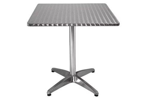 Bolero Table bistro carrée acier inoxydable 700mm