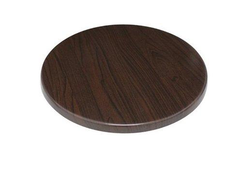 Bolero Plateau de table rond marron foncé