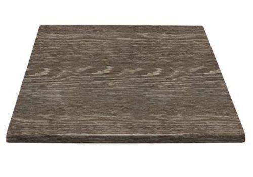 Bolero Plateau de table carré effet bois vieilli