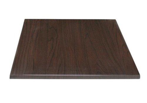 Bolero Plateau de table carré marron foncé