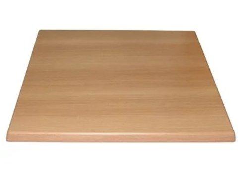 Bolero Plateau de table carré effet hêtre
