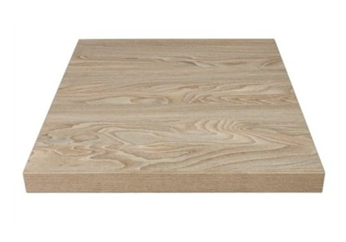 Bolero Plateau de table carré effet bois clair