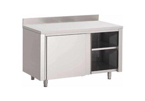 ProChef Table Armoire Inox avec Portes Coulissantes et Dosseret | 7 Formats