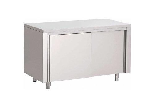 Saro Table de Travail Fermée | 2 portes Coulissantes / 1200 (L) x 700 (P) x 850 (H) mm