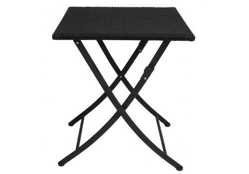 Bolero Table Carrée Pliante en Rotin PE   60 cm