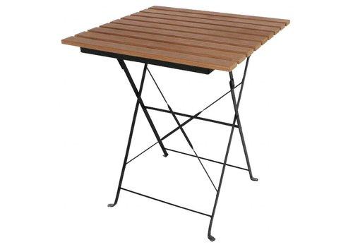 Bolero Table Bistro Carrée en Imitation Bois | 60 cm