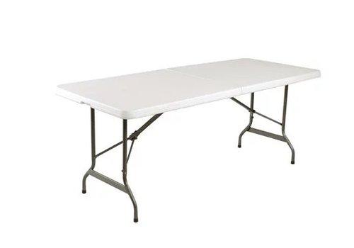 Bolero Table Pliable au Centre | Blanche | 182,9 cm