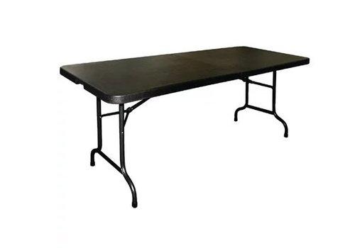 Bolero Table Pliable au Centre Noire | 182,9 cm
