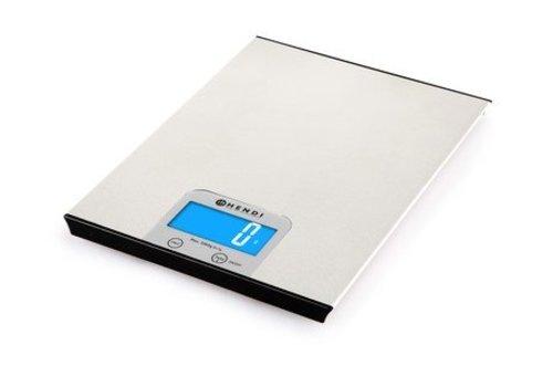 Hendi Balance de Cuisine numérique | Inox | 5 kg