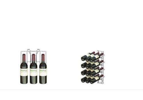 ProChef Casier à vin | Chromé | 4 niveaux | 540 mm