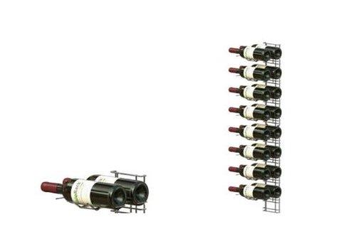 ProChef Casier à vin | Chromé  | 8 niveaux | 1020 mm