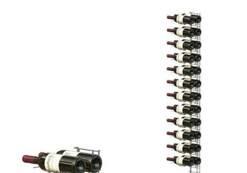 ProChef Casier à vin | Chromé |  12 Niveaux | 1560 mm
