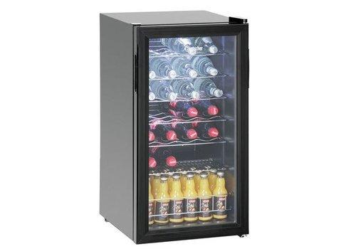 Bartscher Réfrig. boissons 88L, 28Bl, porte verre