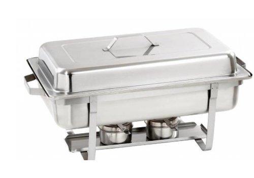 Bartscher Chafing dish 1/1 | Acier nickel-chrome | 605 x 350  x 305 mm