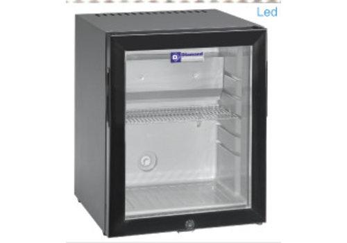 Diamond Minibar | Porte vitrée | 402 x 406 x 500 | 32 litres