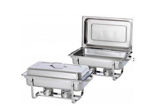 Saro Chafing dish Modèle SERENA Paquet de 2 | Acier inoxydable | 605 x 350 x 310 mm