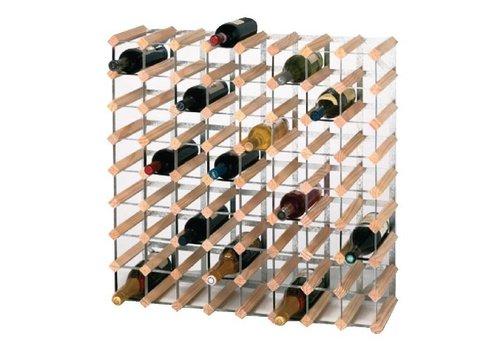 ProChef Casier à bouteilles en bois | Pin et acier | 72 bouteilles
