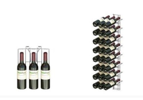 ProChef Casier à vin chromé - VISIOPLUS - 8 niveaux - 24 BOUTEILLES