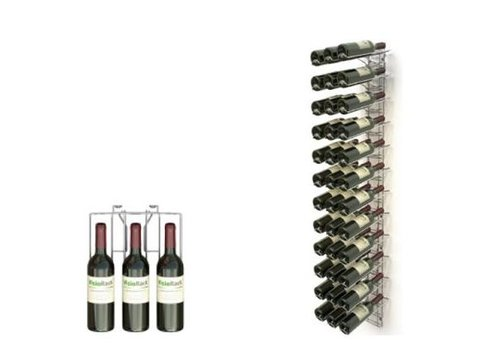 ProChef Casier à vin chromé - VISIOPLUS - 12 Niveaux - 36 Bouteilles