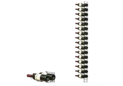 ProChef Casier à vin chromé - VISIOPLUS - 16 Niveaux - 36 Bouteilles