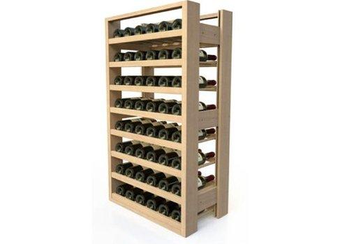 ProChef Casier à vin en bois | 8 Etages | 48 Bouteilles