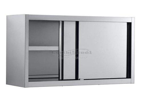 Combisteel Armoire Murale / Acier Inoxydable / Portes Coulissantes / 1200 (L) x 400 (P) x 650 (H)  mm