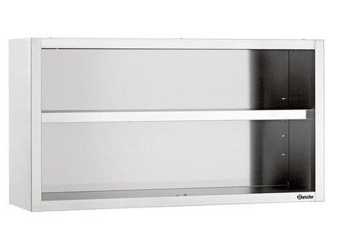 Bartscher Armoire Suspendue Ouverte / 1200 (L) x 400 (P) x 660 (H) mm