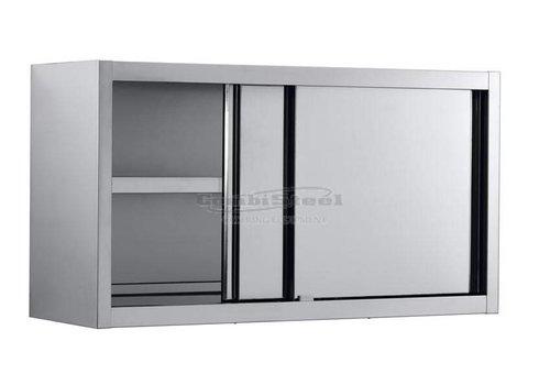 Combisteel Armoire Murale | Acier Inoxydable | Portes Coulissantes | 1400 (L) x 400 (P) x 650 (H)  mm