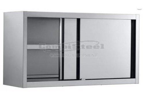 Combisteel Armoire Murale | Acier Inoxydable | Portes Coulissantes | 1600 (L) x 400 (P) x 650 (H)  mm