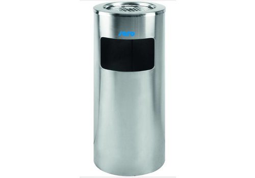 Saro Cendrier sur corbeille | Acier inoxydable | Ø 300 x H 720 mm
